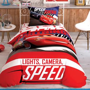 Детское постельное белье TAC CARS SPECTATOR хлопковый ранфорс 1,5 спальный