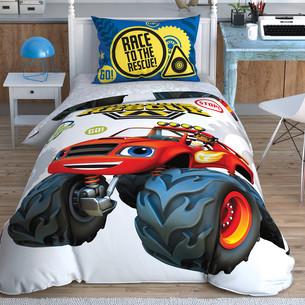 Детское постельное белье TAC BLAZE ROAD RESCUE хлопковый ранфорс 1,5 спальный