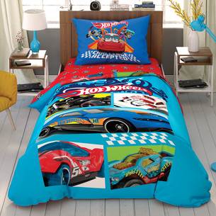Детское постельное белье TAC HOT WHEELS CHALLENGE хлопковый ранфорс 1,5 спальный