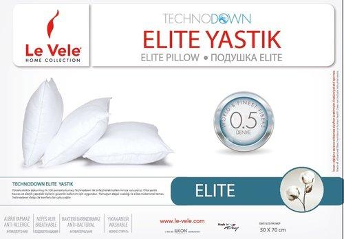 Подушка Le Vele ELITE COTTON микроволокно/хлопок 70х70 1300 GSM, фото, фотография