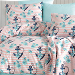 Детское постельное белье Istanbul Home Collection COTTON LIFE ANCHOR ранфорс коралловый 1,5 спальный, фото, фотография