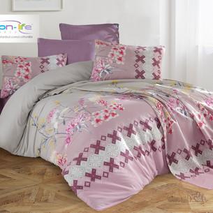 Постельное белье Istanbul Home Collection COTTON LIFE LARISSE ранфорс фиолетовый 1,5 спальный