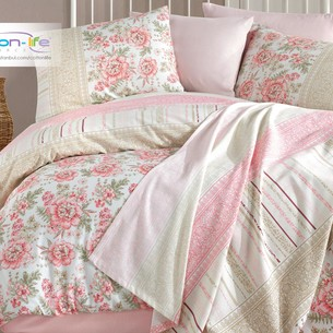 Постельное белье Istanbul Home Collection COTTON LIFE LISA ранфорс пудра евро