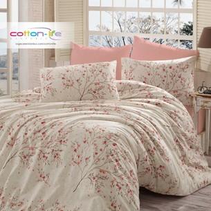Постельное белье Istanbul Home Collection COTTON LIFE MINA ранфорс кремовый 1,5 спальный