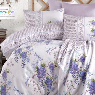 Постельное белье Istanbul Home Collection COTTON LIFE SPRING ранфорс фиолетовый 1,5 спальный