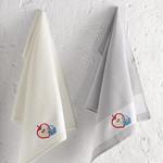 Подарочный набор кухонных полотенец 45х65(2) Karna PANIER хлопковая вафля серый, фото, фотография
