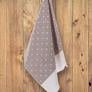 Кухонное полотенце Tivolyo Home DOTTY хлопок бежевый 50х70