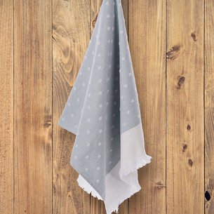 Кухонное полотенце Tivolyo Home DOTTY хлопок бирюзовый 50х70