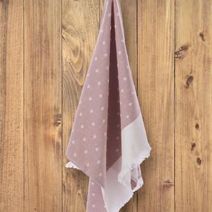 Кухонное полотенце Tivolyo Home DOTTY хлопок розовый 50х70