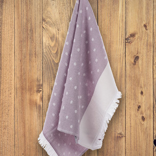 Кухонное полотенце Tivolyo Home DOTTY хлопок фиолетовый 50х70
