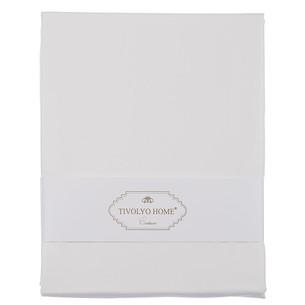 Простынь Tivolyo Home хлопковый сатин делюкс белый 180х260
