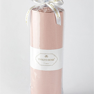 Простынь с наволочками Tivolyo Home хлопковый сатин делюкс грязно-розовый 240х260