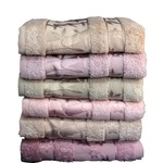 Набор полотенец для ванной 6 шт. Pupilla ELIT бамбуковая махра V3 70х140, фото, фотография