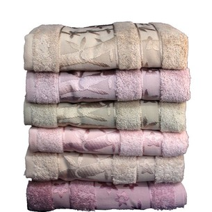 Набор полотенец для ванной 6 шт. Pupilla ELIT бамбуковая махра 50х90 V2