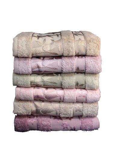 Набор полотенец для ванной 6 шт. Pupilla ELIT бамбуковая махра 50х90 V2, фото, фотография