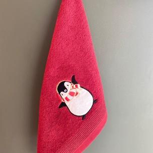 Полотенце-салфетка La Villa PENGUEN хлопковая махра бордовый 45х70