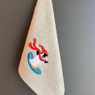 Полотенце-салфетка La Villa SORFCU PENGUEN хлопковая махра ментол 45х70