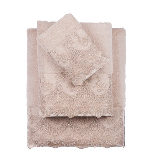 Полотенце для ванной Tivolyo Home REGINA хлопковая махра бежевый 75х150