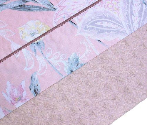 Покрывало пике Tivolyo Home HENA ВЫШИВКА хлопок розовый 220х240, фото, фотография