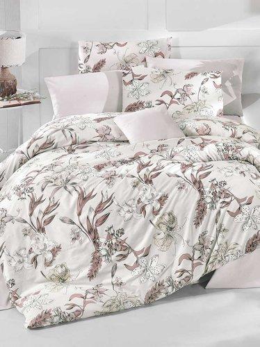 Постельное белье Ecosse RANFORCE LUCCA хлопковый ранфорс коричневый 1,5 спальный, фото, фотография