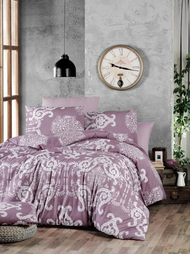 Постельное белье Ecosse RANFORCE VANESSA хлопковый ранфорс лиловый семейный, фото, фотография