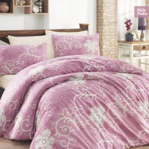 Постельное белье Ecosse RANFORCE NELLY хлопковый ранфорс пудра 1,5 спальный