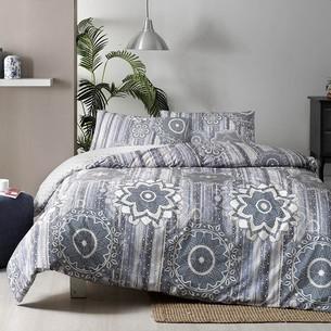 Постельное белье TAC HAPPY DAYS ABEL хлопковый ранфорс синий 1,5 спальный