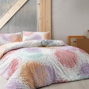 Комплект подросткового постельного белья TAC RIO хлопковый ранфорс оранжевый 1,5 спальный