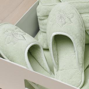 Тапочки женские Soft Cotton LILIUM светло-зелёный 36