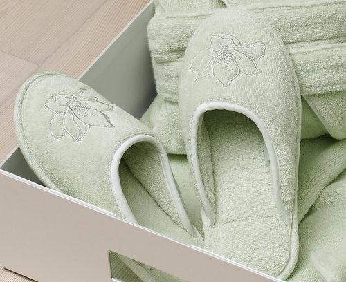 Тапочки женские Soft Cotton LILIUM светло-зелёный 38, фото, фотография