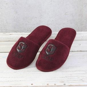 Тапочки мужские Soft Cotton LUXURE бордовый 42-44