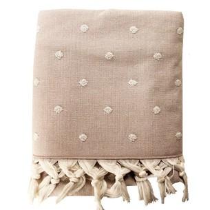 Пляжное полотенце, парео, палантин (пештемаль) Pupilla PONI хлопок персиковый 90х170