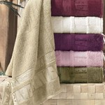Набор полотенец для ванной 6 шт. Pupilla GOLD бамбуковая махра 50х90, фото, фотография