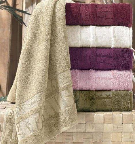 Набор полотенец для ванной 6 шт. Pupilla GOLD бамбуковая махра 70х140, фото, фотография