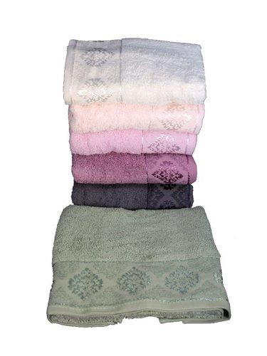 Набор полотенец для ванной 6 шт. Miss Cotton DAMASK хлопковая махра 70х140, фото, фотография