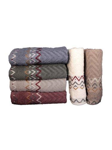 Набор полотенец для ванной 6 шт. Miss Cotton ELEGANS хлопковая махра 50х90, фото, фотография