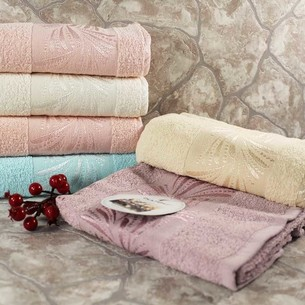 Набор полотенец для ванной 6 шт. Miss Cotton MANOLYA хлопковая махра 70х140