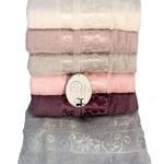 Набор полотенец для ванной 6 шт. Luzz BAHAR хлопковая махра 70х140, фото, фотография