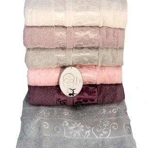 Набор полотенец для ванной 6 шт. Luzz BAHAR хлопковая махра 70х140