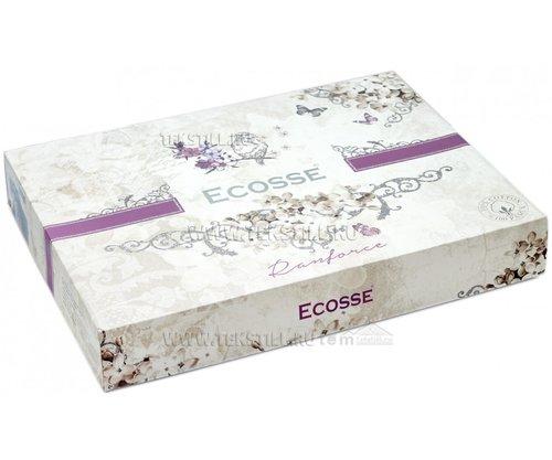 Постельное белье Ecosse RANFORCE ДВУХЦВЕТНОЕ хлопковый ранфорс пудра, светло-серый евро, фото, фотография