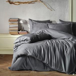 Постельное белье Saheser JACQUARD VIP SATIN AUSTIN хлопковый сатин-жаккард серый евро