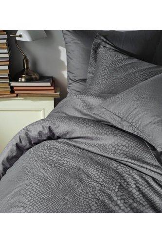 Постельное белье Saheser JACQUARD VIP SATIN AUSTIN хлопковый сатин-жаккард серый евро, фото, фотография