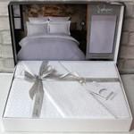 Постельное белье Saheser JACQUARD VIP SATIN DIAMOND хлопковый сатин-жаккард белый евро, фото, фотография