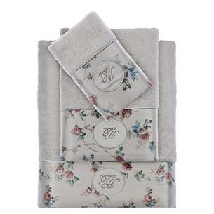 Подарочный набор полотенец для ванной 2 пр. Tivolyo Home ROSELAND LUX хлопковая махра ментол