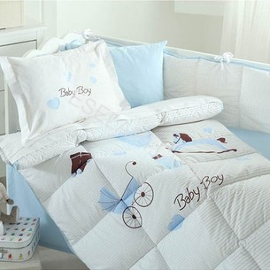 Набор в кроватку для новорожденных с одеялом Ozdilek BABY BOY
