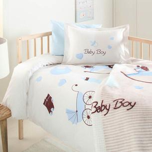 Набор в кроватку для новорожденных с пледом Ozdilek BABY BOY