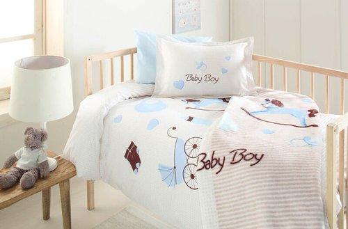 Набор в кроватку для новорожденных с пледом Ozdilek BABY BOY, фото, фотография