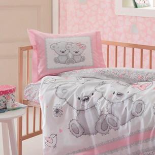 Набор в кроватку для новорожденных с пледом Ozdilek SPRING TIME розовый