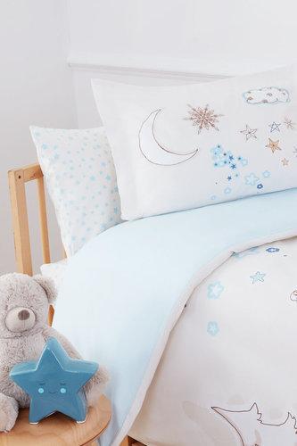 Набор в кроватку для новорожденных с пледом Ozdilek STELLA голубой, фото, фотография
