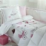 Набор в кроватку для новорожденных с одеялом Ozdilek BABY GIRL, фото, фотография